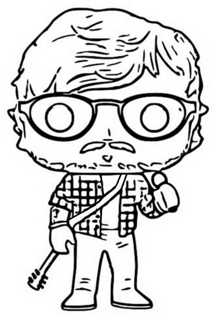 Dibujo para colorear Funko Pop Rocks : Ed Sheeran 4