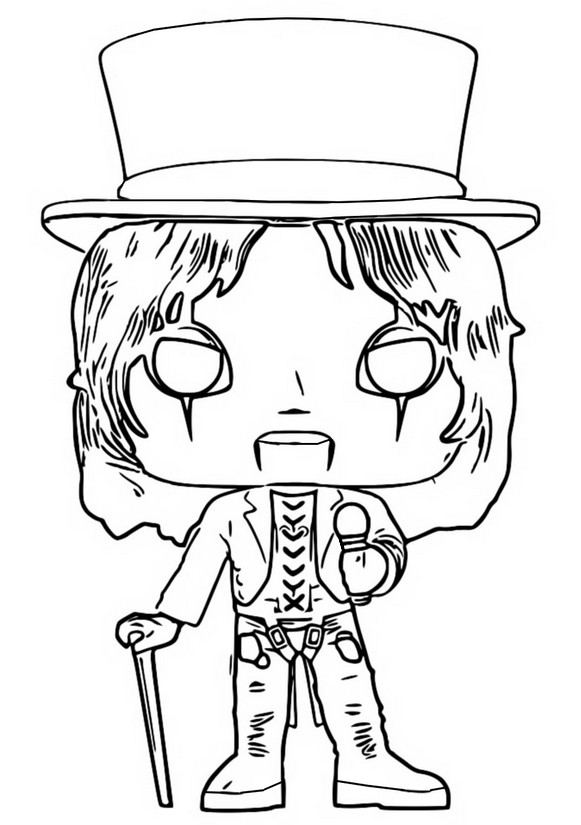Disegno da colorare Alice Cooper - Funko Pop Rocks