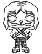 Coloring page Kiss - Catman