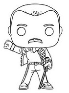 Coloring page Queen - Freddy Mercury