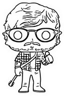 Coloring page Ed Sheeran