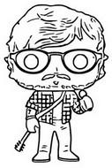 Coloring page Ed Sheeran