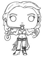 Coloring page Britney Spears