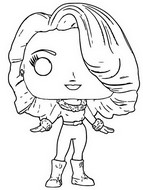 Coloring page Maria Carey Christmas