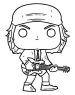 Coloring page AC/DC - Angus Young