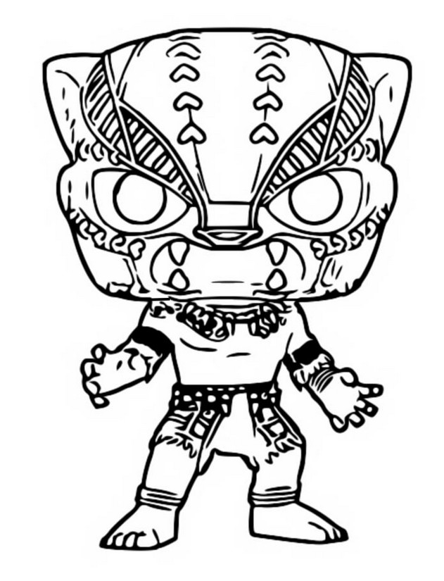 Coloriage De Black Panther.Coloring Page Funko Pop Marvel Black Panther 3