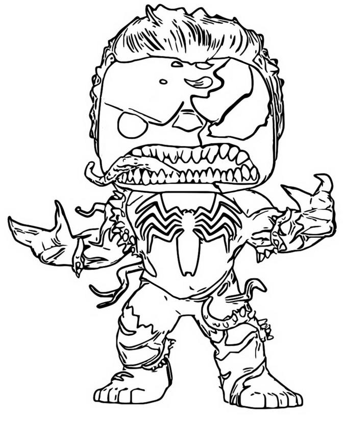 Dibujos Para Colorear Venom - Impresion gratuita