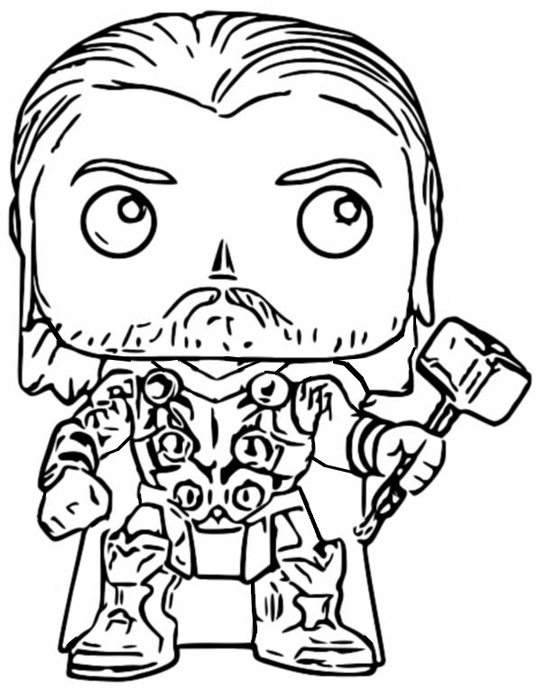 Dibujo Para Colorear Funko Pop Marvel Avengers 2 Thor 9