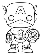 Coloring page Captain America