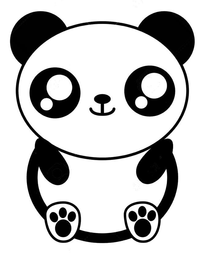 Dibujo Para Colorear Kawaii Panda 7