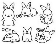 Coloring page Rabbits