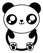 Desenho para colorir Panda
