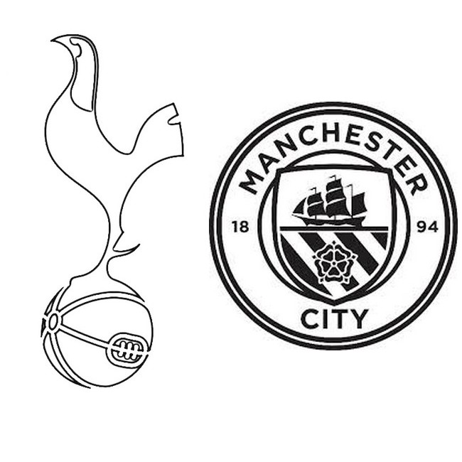 Coloring Page Uefa Champions League 2019 Quarter Finals Tottenham Manchester City 1