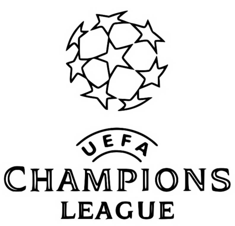 kleurplaat uefa champions league 2019  uefa champions