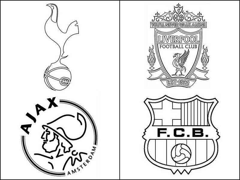 coloring page uefa champions league 2019   semi