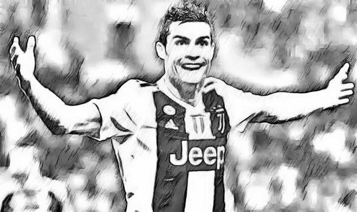 Disegno Da Colorare Uefa Champions League 2019 Cristiano Ronaldo