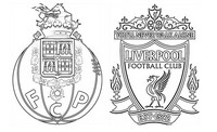 Coloring page Quarter-finals : Liverpool - Porto