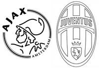 Kleurplaat Quarts finalen : Ajax Amsterdam - Juventus