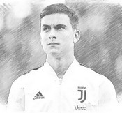 Coloring page Paulo Dybala 2019