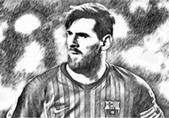 Coloring page Lionel Messi 2019