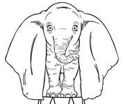 Desenho para colorir Dumbo 2019 Tim Burton