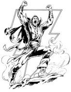 Desenho para colorir Shazam