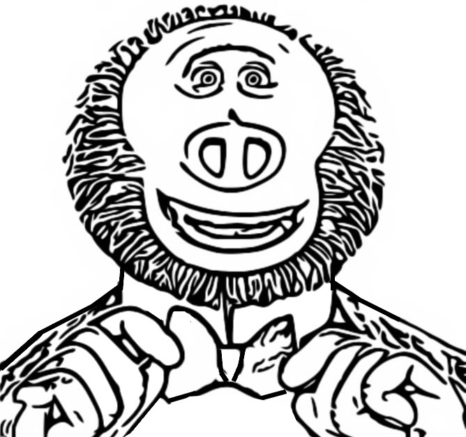 Coloring page Missing Link 3