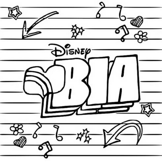 Coloring Page Bia Bia Disney Channel 2