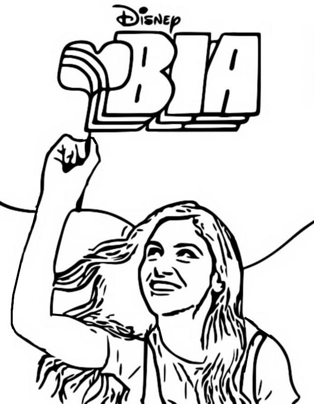 Desenho Para Colorir Bia Bia Isabela Souza 3