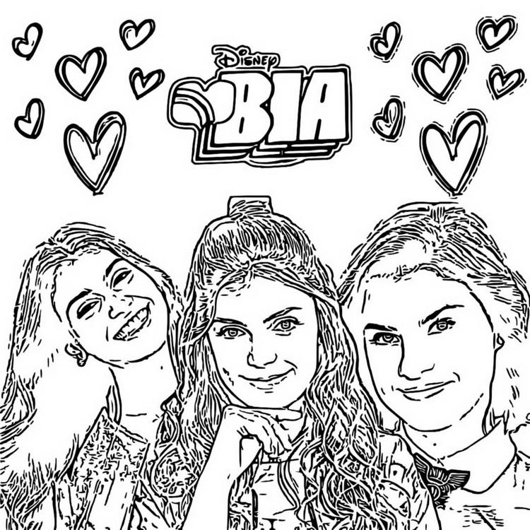 Dibujo Para Colorear Bia Bia Chiara Celeste 9