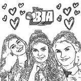 Dibujo para colorear Bia, Chiara, Celeste