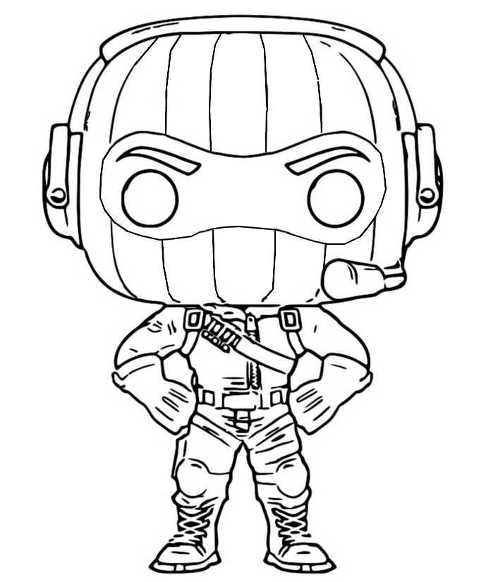 Disegno Da Colorare Funko Pop Fortnite Raptor 8