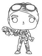 Kolorowanka Funko Pop Fortnite