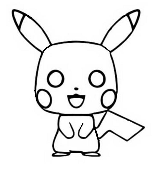 Desenho Para Colorir Pikachu Funko Pop Pikachu 4