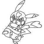 Tulostakaa värityskuvia Pikachu Libre