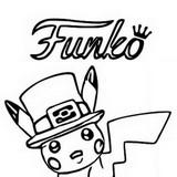 Coloring page Funko Pop Pokémon Pikachu