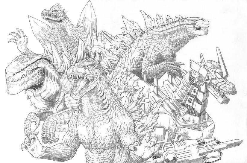 Dibujo Para Colorear Godzilla Equipo De Godzilla 10