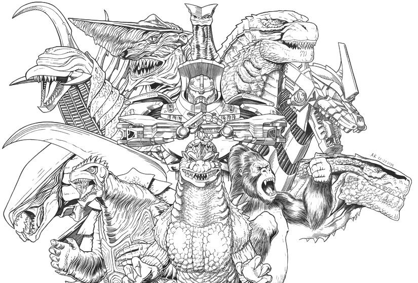 Godzilla Da Colorare - Colorare Immagini