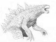 Coloring page Godzilla 2014