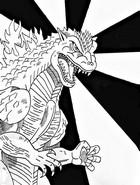 Coloring page Godzilla 2000