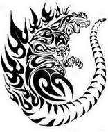 Dibujo para colorear Tatuaje de Godzilla