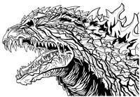 Coloring page Head of Godzilla