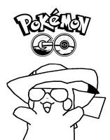 Målarbok Pikachu Pokémon Go