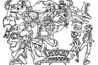 Desenho para colorir Pokémon Masters
