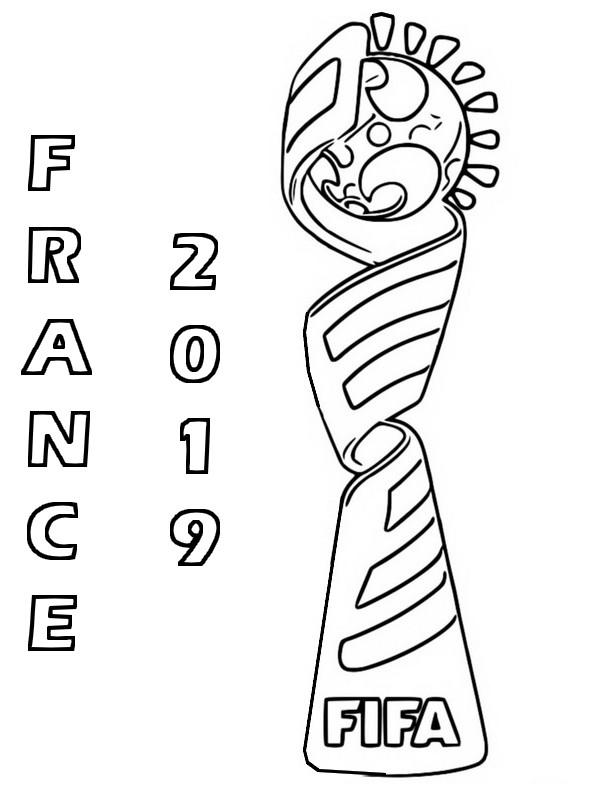 Dibujo Para Colorear Copa Mundial Femenina De Fútbol 2019 Logo
