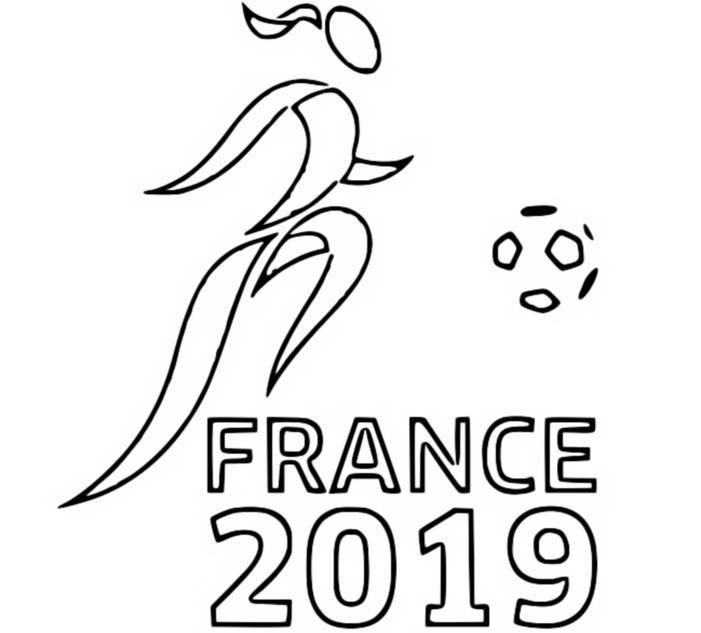 Dibujo Para Colorear Copa Mundial Femenina De Fútbol 2019 Francia