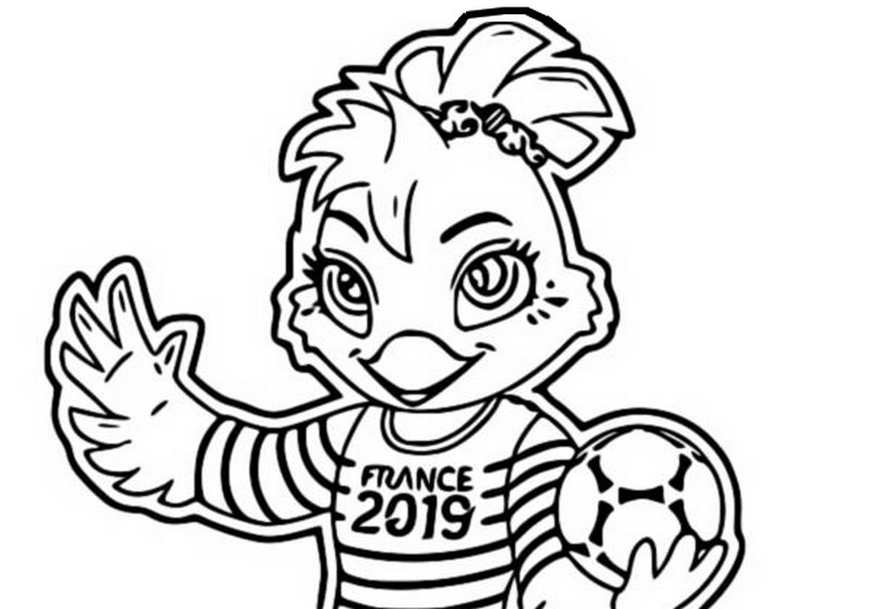 coloring page women u0026 39 s soccer world cup 2019   mascot 4