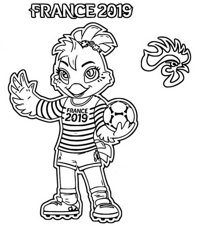 Dibujo Para Colorear Copa Mundial Femenina De Fútbol 2019 Mascota