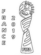Coloring page Logo France 2019