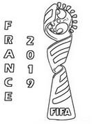 Målarbok Logo Frankrike 2019